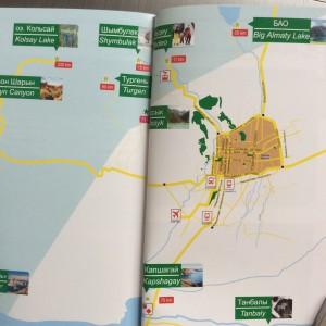 Карта достопримечательностей Алматы
