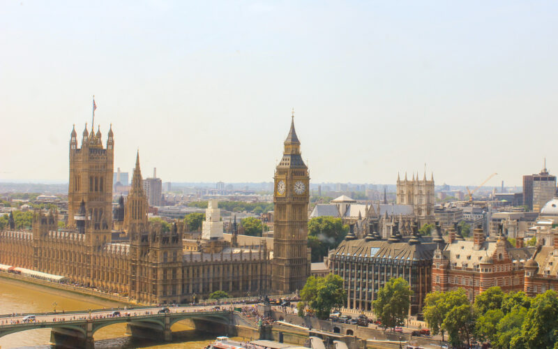 London, Big Ben view, the Palace of Westminster